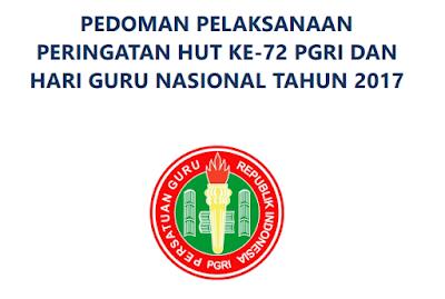 Download pedoan HUT PGRI ke-72
