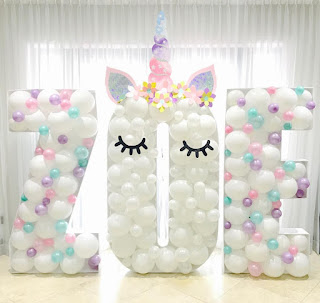 Unicorn Theme Mosaic Balloon Letters