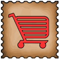 cart stamp icon