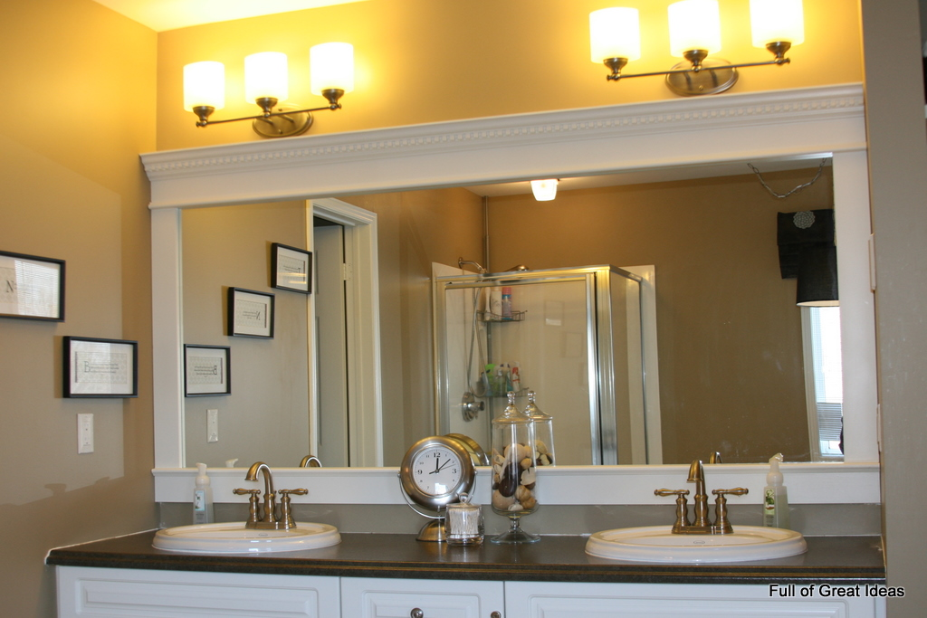 Full of Great Ideas: Framing a builder grade mirror that ...