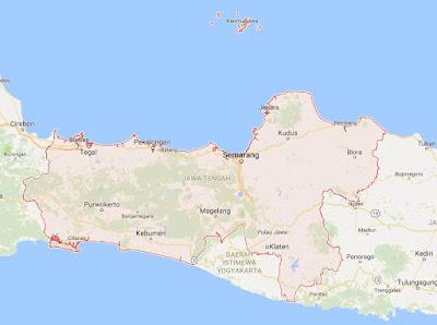 Peta Wilayah Provinsi Jawa Tengah