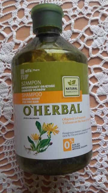 O'HERBAL Szampon zwiększający objętość cienkich włosów