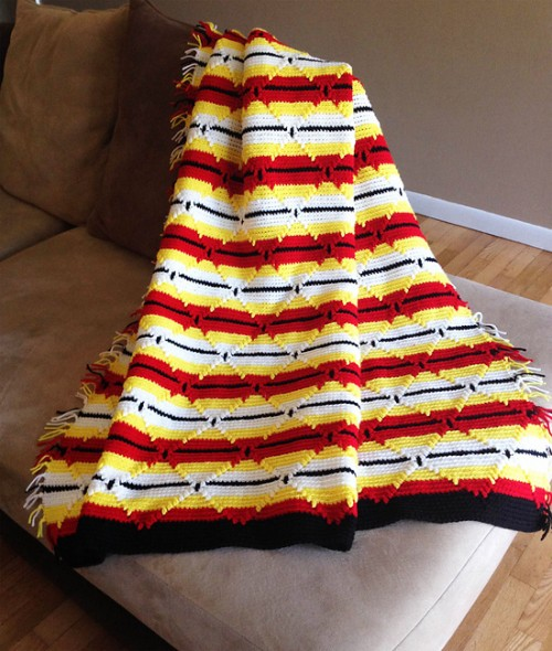 Navajo Indian Diamond Afghan - Free Pattern
