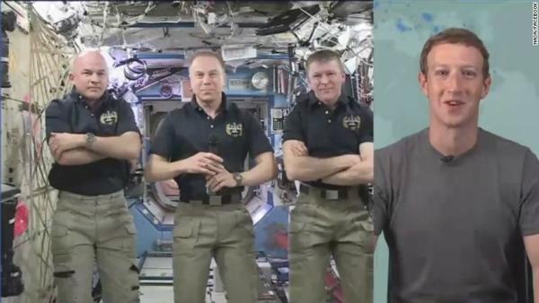 بالفيديو: فيسبوك تقوم بأول بث مباشر من الفضاء