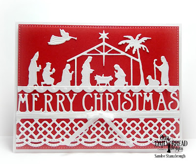 Our Daily Bread Designs Custom Dies: Holy Night, Merry Christmas Border, Pierced Rectangles, Beautiful Borders