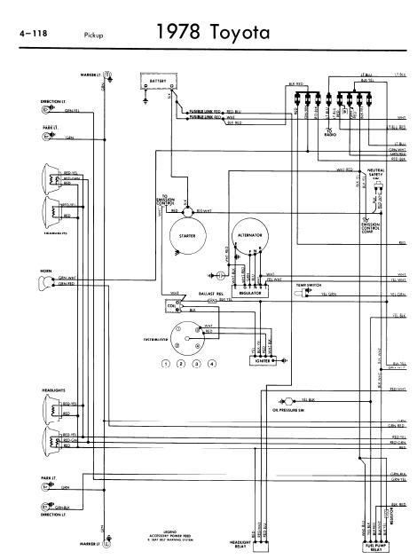 repairmanuals: Toyota Pickup 1978 Wiring Diagrams
