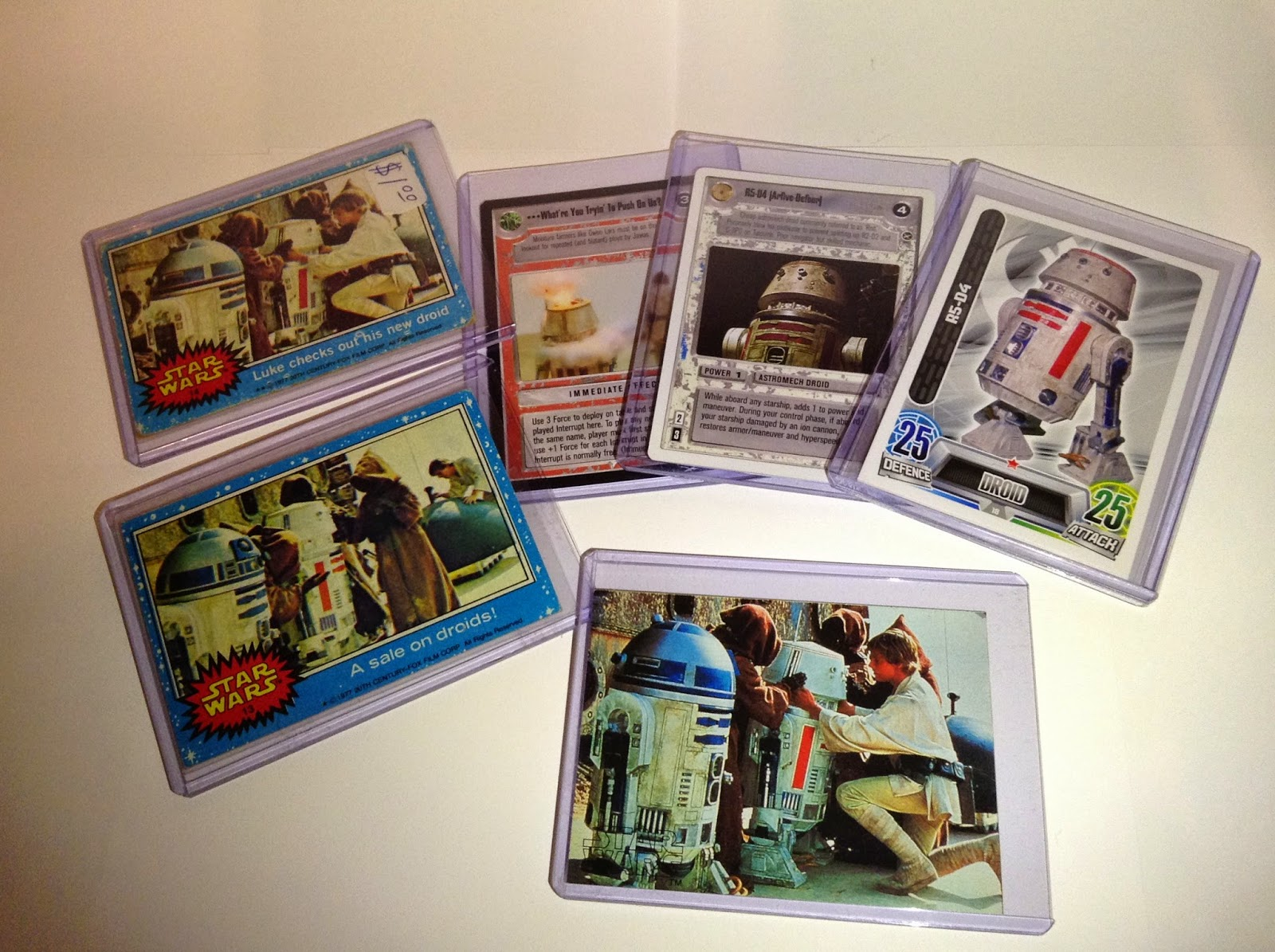 R5-D4 Trading & Game cards