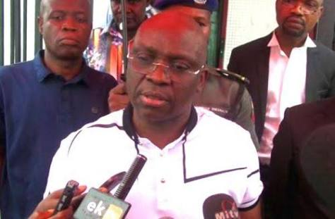 Fayose Confronts INEC, Police, With Video Evidence of Rigging