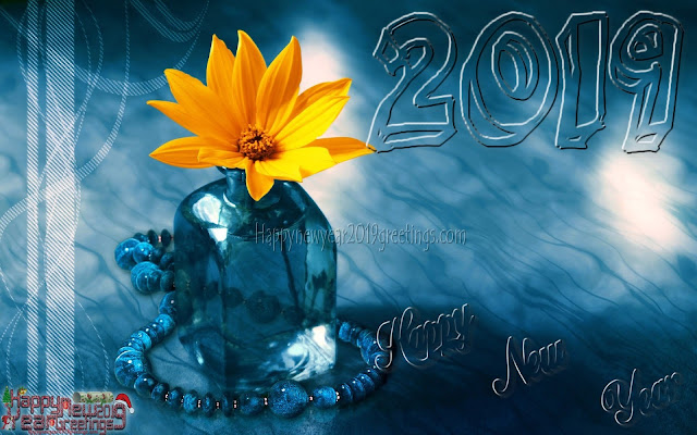 Happy New Year 2019 3D Desktop Background - Happy New Year 2019 3D Images