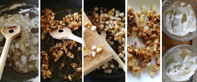 Zubereitung Griechischer Joghurt mit Nashibirne und karamellisierten Walnüssen