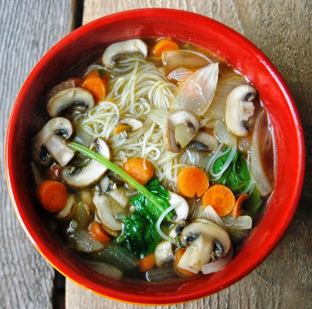 Awesome Vegetable Rice Noodles Soup