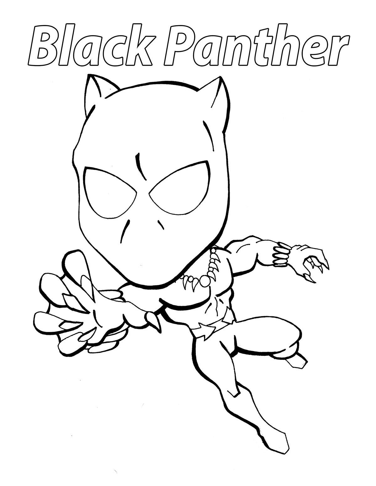 Desenhos De Chibi Pantera Negra Para Colorir E Imprimir
