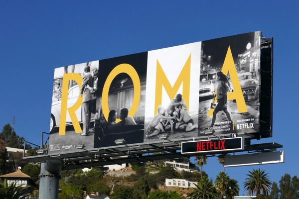 Roma movie billboard