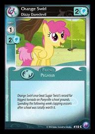My Little Pony Orange Swirl, Dizzy Daredevil Canterlot Nights CCG Card