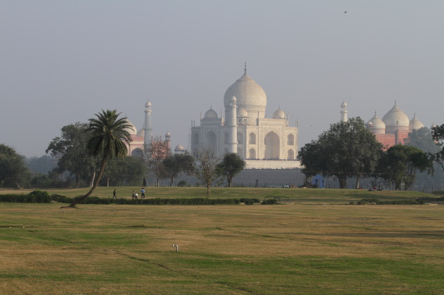 Gorgeous looking Taj Mahal from the other side of the Yamuna, Agra