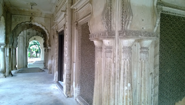 Another view of the paigah family tombs in hyderabad