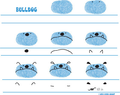 Ed Emberley's Bull Dog Drawing Page