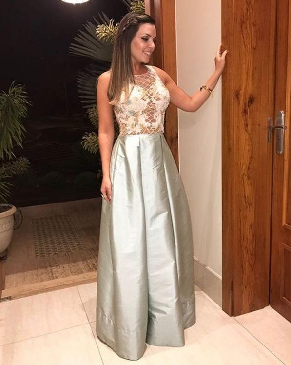vestido de festa tom pastel