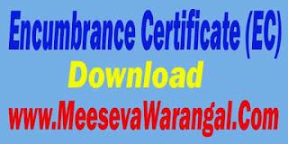 Encumbrance (EC) Download-Telangana / Andhra Pradesh State