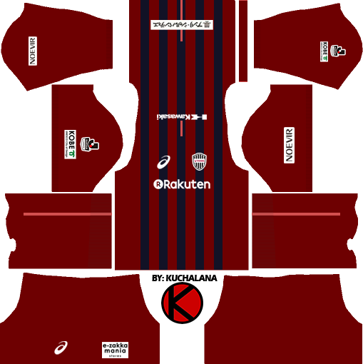 Vissel Kobe ヴィッセル神戸 kits 2017 - Dream League Soccer