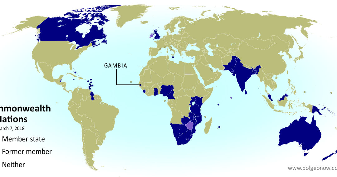 Gambia Rejoins the Commonwealth Map