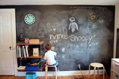 Pintura De Pizarra Para Pintar Y Decorar Paredes Aprender Hacer - Pintar-y-decorar-paredes