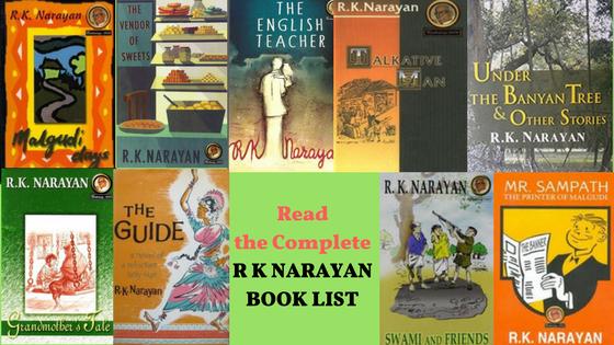 rk narayan novels list