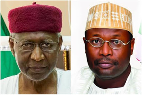 Buhari's Chief Of Staff, INEC Chairman Meet Inside Aso Rock