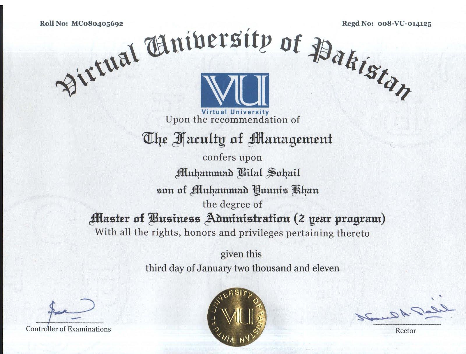MBA – General Management