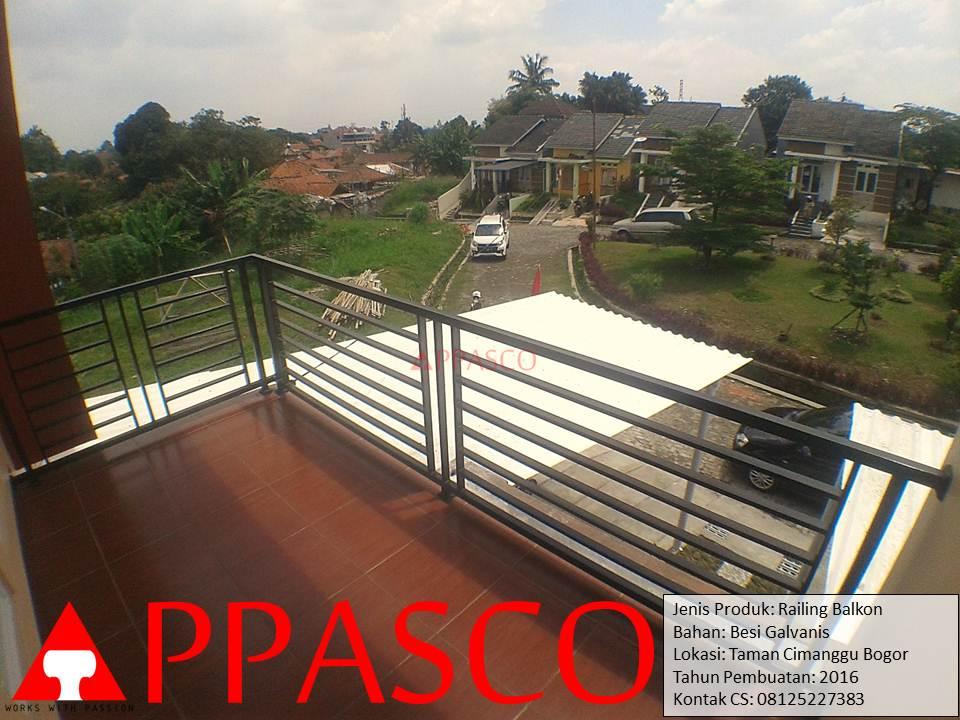 Railing Balkon di Taman Cimanggu Bogor