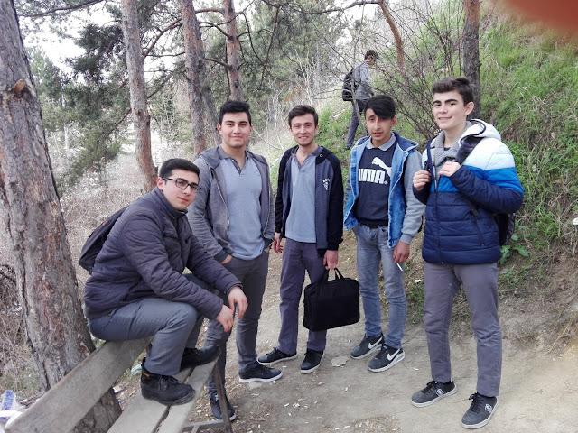 Aykut Eşkil, Uğur Karabey, Harun İstenci, Ömer Yardımcı ve Ahmet Karahasanoğlu Kastamonu Mesleki ve Teknik Anadolu Lisesinde, Taş Mektep'de