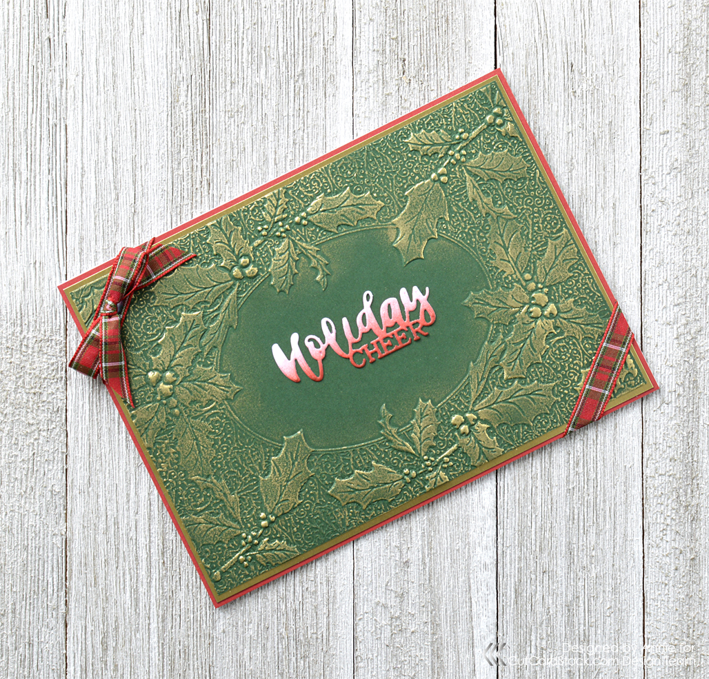 Easy Embossed Holiday Card