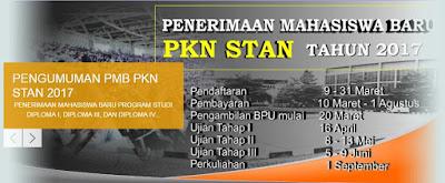 Pengumuman dan Jadwal Pendaftaran PKN STAN 2017