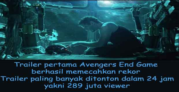 trailer avenger 4 end game memecahkan rekor youtube