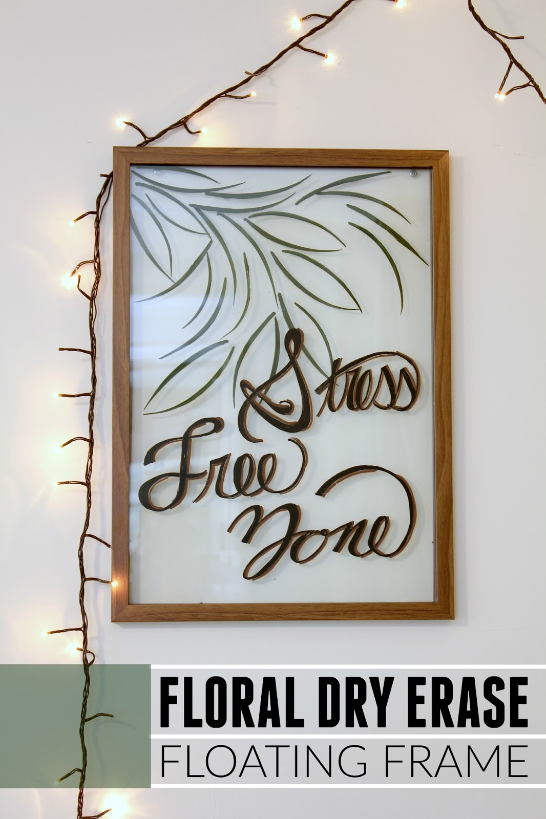 EAT+SLEEP+MAKE: #MichaelsMakers: Floral Dry Erase Floating Frame