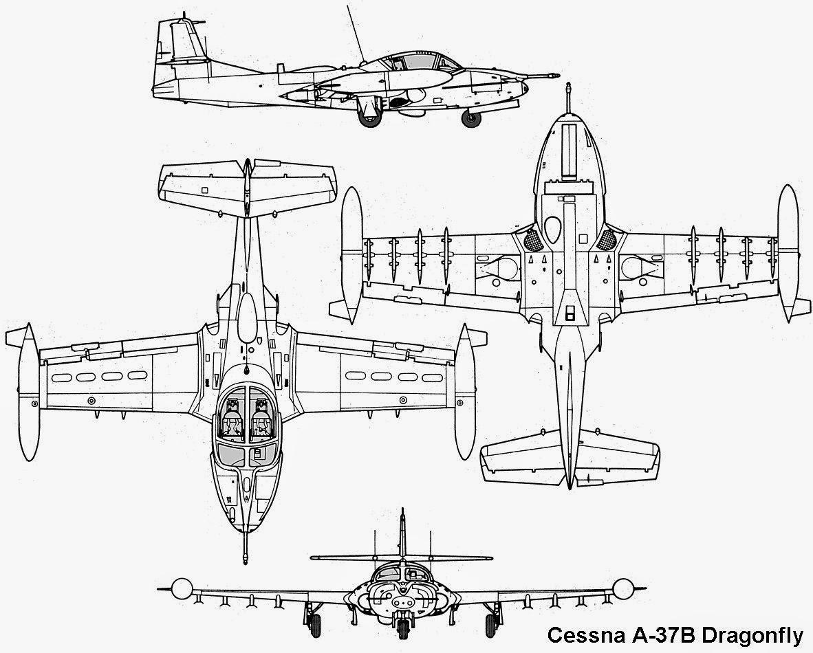 Aviones Caza Y De Ataque Cessna A 37 Dragonfly