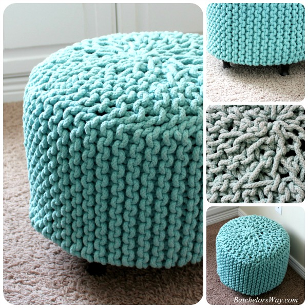 DIY pouf from basket