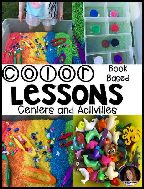 Color activities and lessons for preschool, kindergarten, pre-k and 4K.