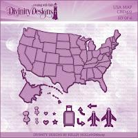 Divinity Designs LLC Custom USA Map Dies