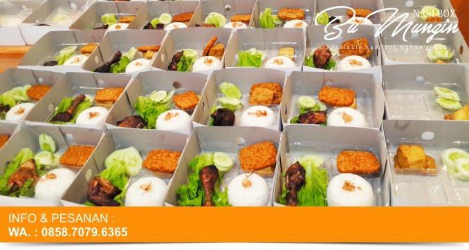TEMPAT PEMESANAN NASI BOX / KOTAK MURAH DI JOGJAKARTA : NASI BOX BU MUNGIN | 0858.7079.6365 (WA)
