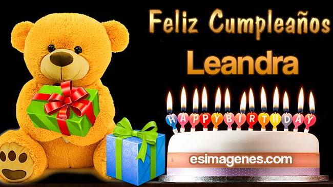 Feliz cumpleaños Leandra