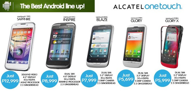 Alcatel Mobile Philippines 2012 Android Pricelist