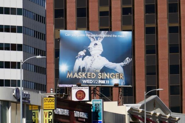 Masked Singer rabbit billboard