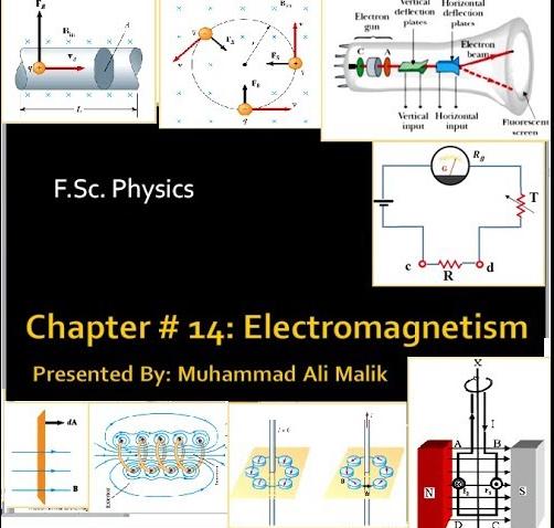 Quiz F Sc  Physics, MCQs Chapter 14: ELECTROMAGNETISM