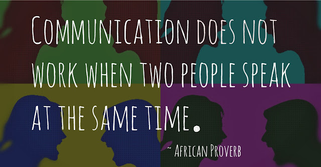 Communication does not work when two people speak at the same time
