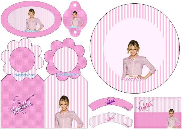Violetta: Mini Kit para Imprimir Gratis.