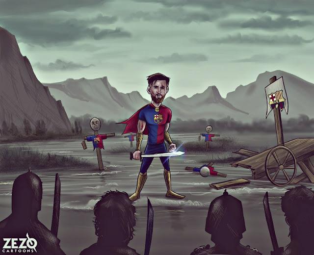 Leo Messi, el gladiador del FC Barcelona