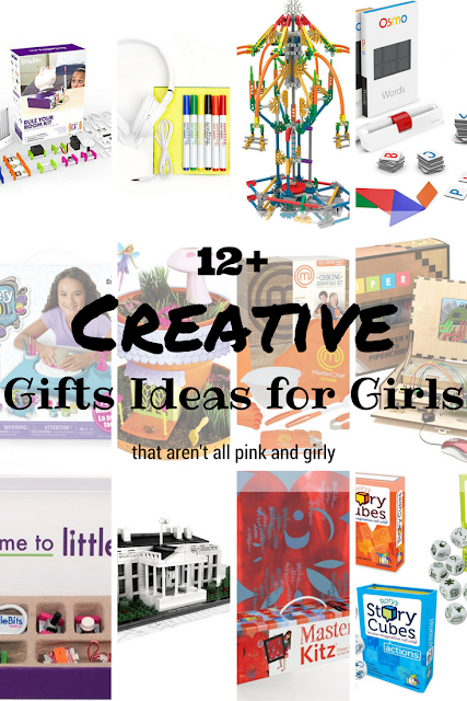 12+ Creative Gift Ideas for Girls inspired by art, STEM, cooking, and electronics.