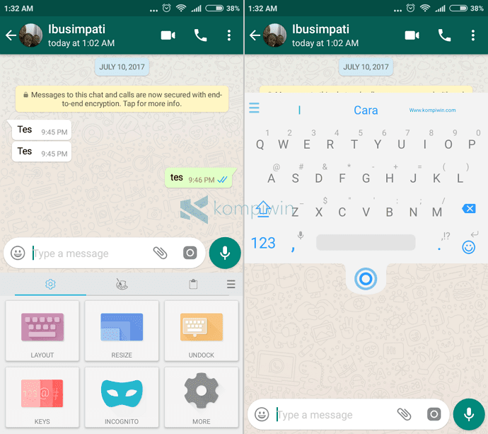 ubah keyboard android