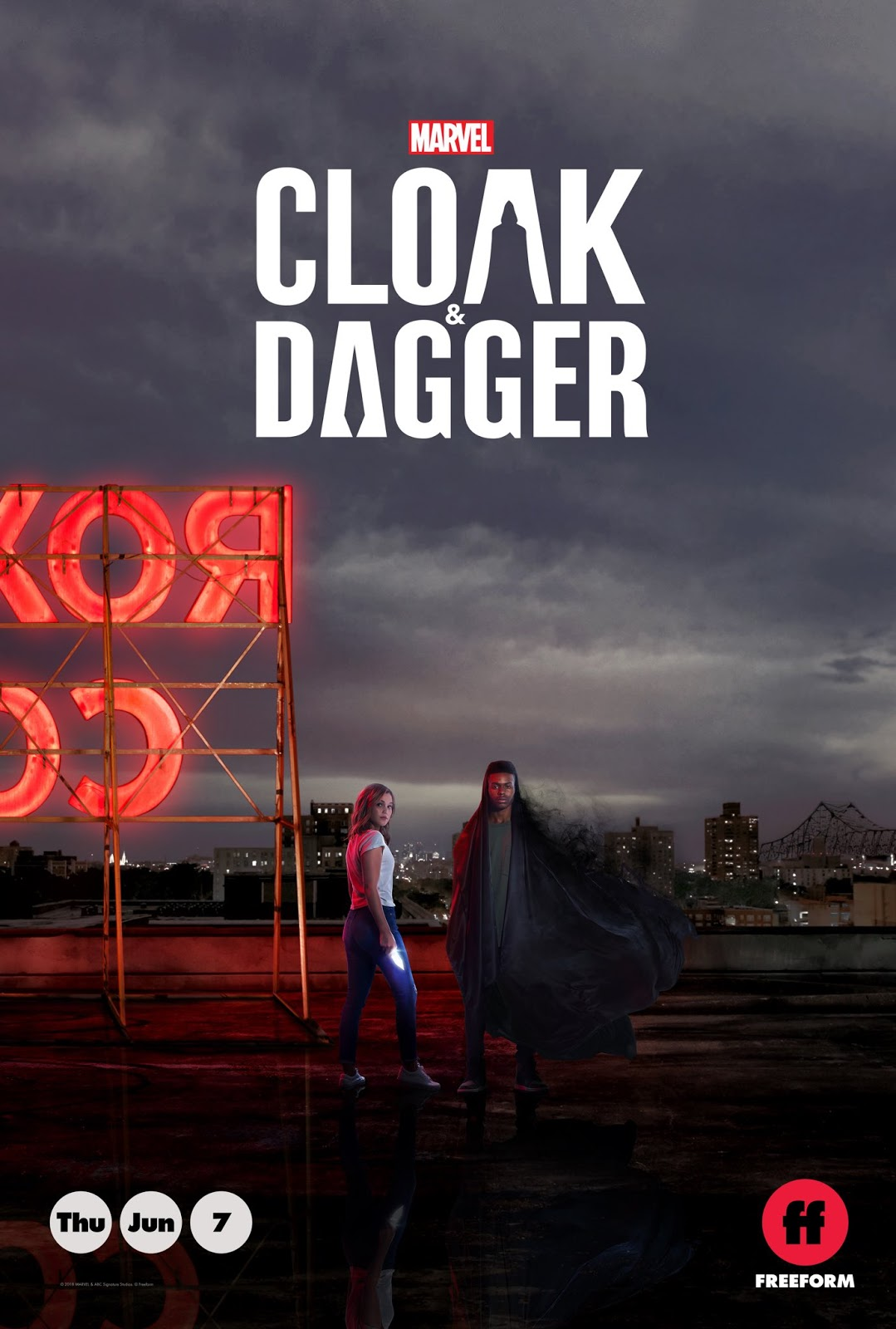 Marvel Freeform Cloak and Dagger poster